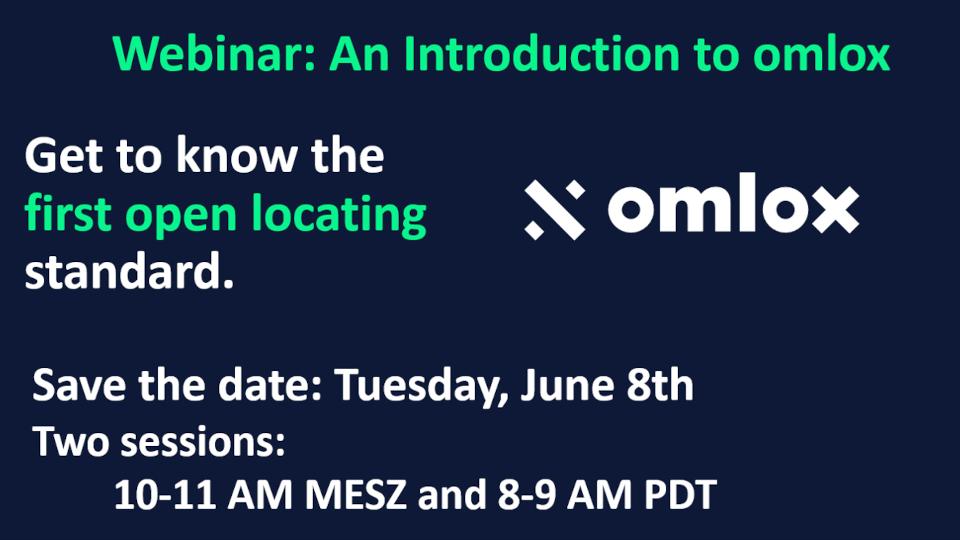 Introduction to omlox Webinar